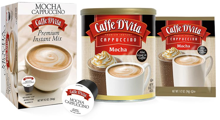 Cappuccino K-cups in Mocha or French Vanilla